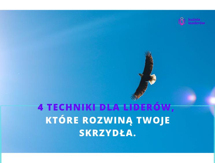 4 Techniki Dla Liderów, Które Rozwiną Twoje Skrzydła.